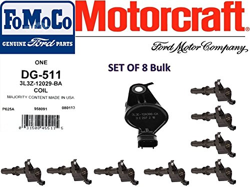 MOTORCRAFT IGNITION COIL FOR FORD LINCOLN MERCURY 3L3Z12029BA DG511 SET OF -