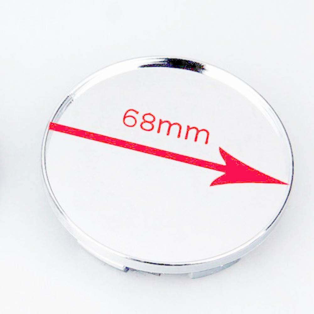 Silver 63mm*58mm Refaxi 4pcs Universal Car Wheel Hubs Center Caps Covers No Badge Emblem