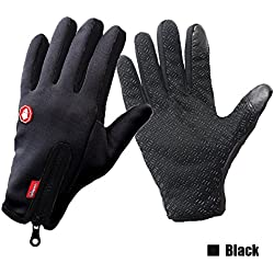 RIGWARL Plus Size Waterproof Windproof Touch Screen Sports Gloves for Motorcycle Cycling Motocross Skiing Outdoor Sports (Black, X-Large)