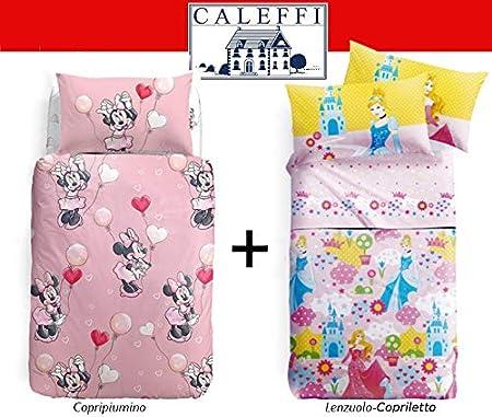 Caleffi Completo Copripiumino Lenzuola Letto 1 Piazza Disney Minnie Style Tessili Per La Casa Casa E Cucina Aaaid Org