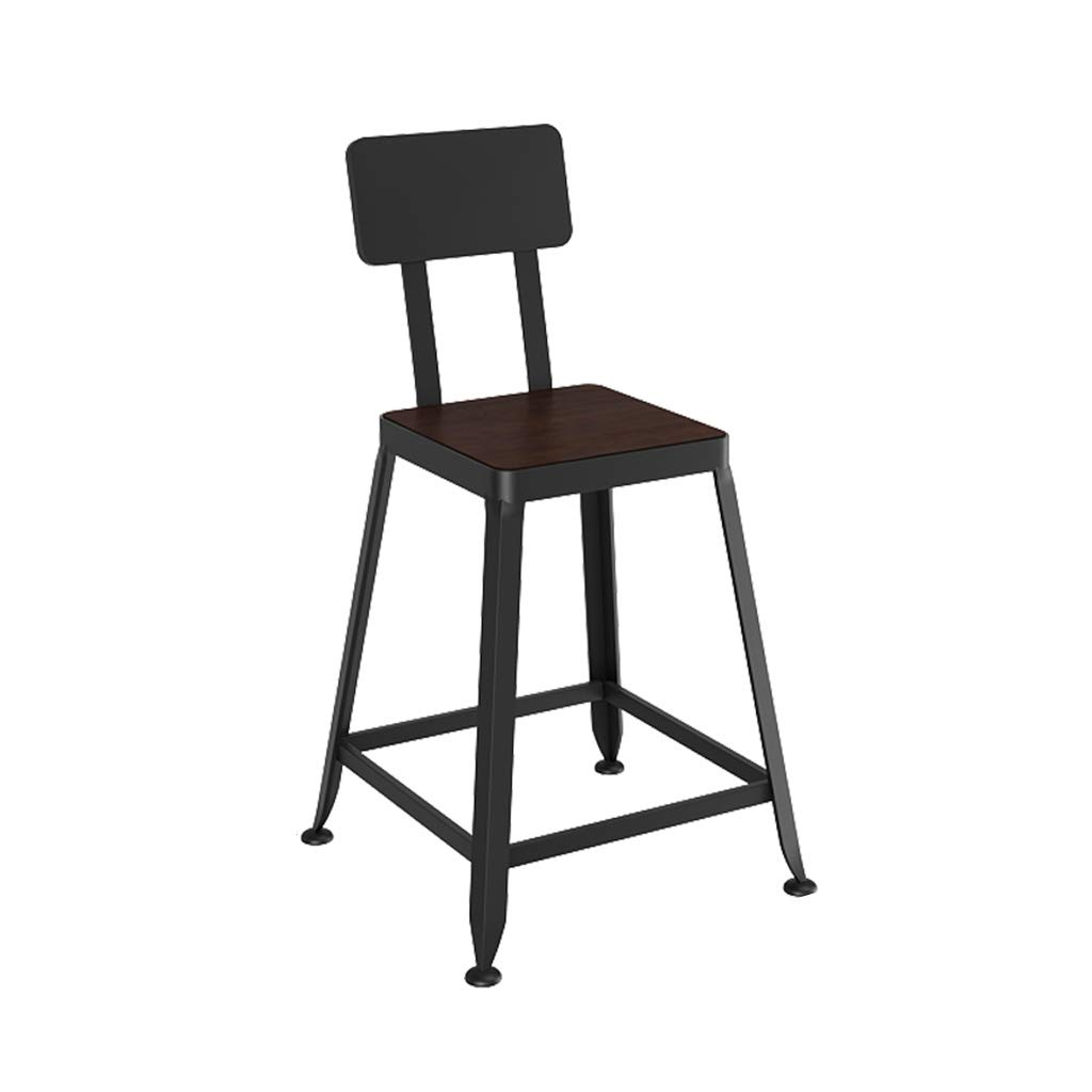 2 Bar Stool High Stool Bar Chair Retro Industrial Style High Stool Furniture Kitchen - Solid Wood PU Sponge Back (Sitting Height  45CM) Dining Chair (Design    1)