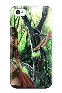 For Iphone 4/4s Premium Tpu Case Cover Fairy Girl Protective Case