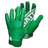Battle Double Threat Adult Football Gloves, Green/Green, Small