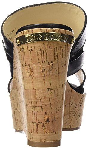 Juicy Couture Penelope - Sandalias para mujer Pitch Black Leather
