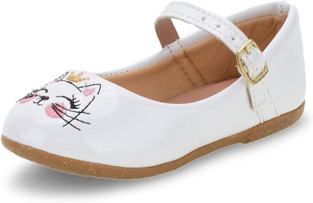 Kids' Mary Jane Flat cat Kitten Crown Cute Comfort Girl White (Numeric_10)