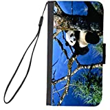 Rikki Knight Premium PU Wallet Flip Case with Kickstand and Magnetic Flap for iPhone 7 PLUS - Panda in Tree Design