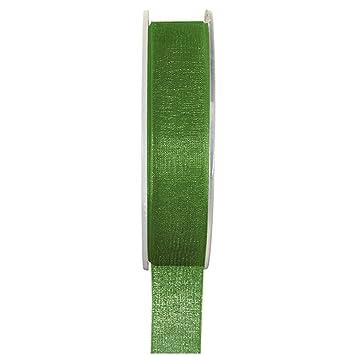 Organzaband 7 mmx20 m apfelgrün Schleifenband Hochzeit Chiffonband Geschenkband