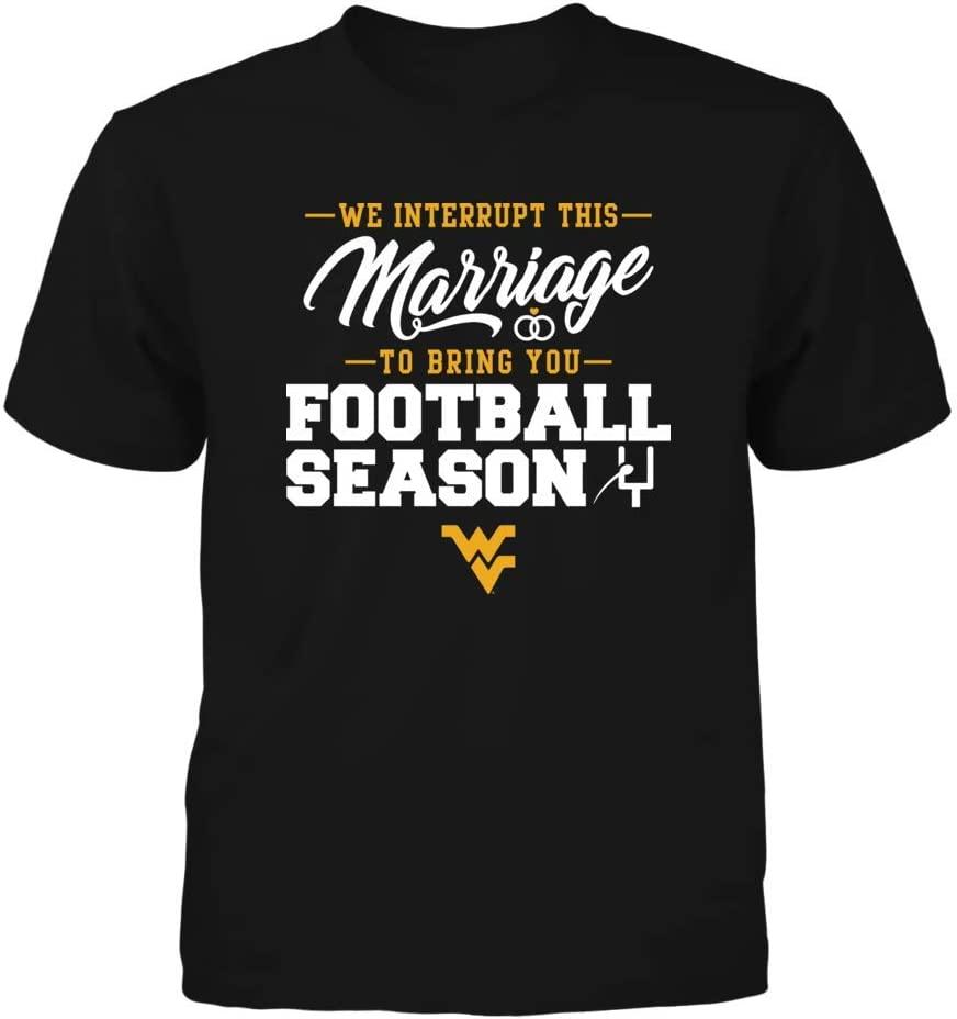 FanPrint West Virginia Mountaineers T-Shirt We Interrupt This
