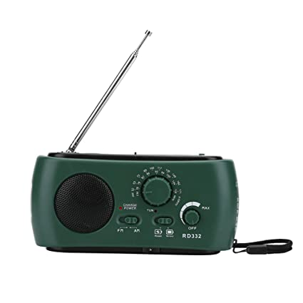 Solar Power Hand Crank Radio 8 LED Lights Dynamo Emergency Phones Charger Camp