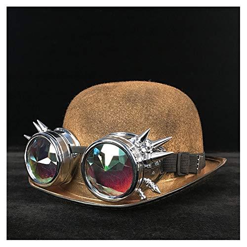 Cat Bly Luxury 57 Donna Oro Cappelli 58cm Unisex Black Fedora Occhiali Top Topper Steampunk Ear Bowler Jd Hat Gby Moda Uomo colore Dimensione 4qfOwHxBP