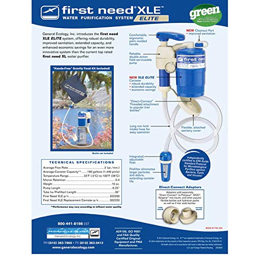 General Ecology First Need Xle Elite Canister 302220 by General Ecology