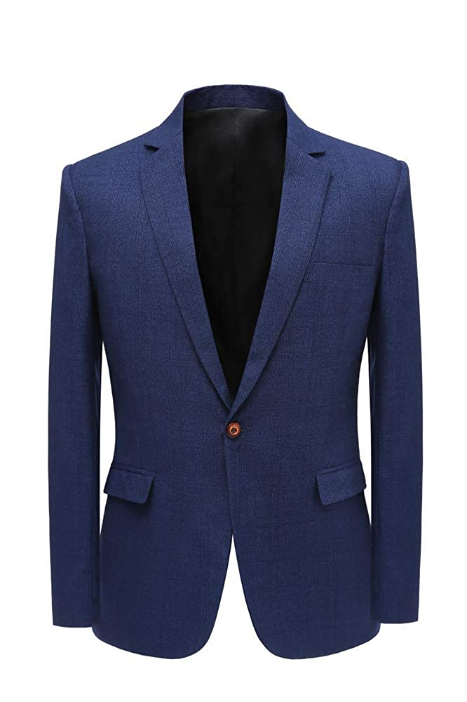 JYDress Men's Dark Blue Formal Single Blazer Jacket for Wedding JK18100101