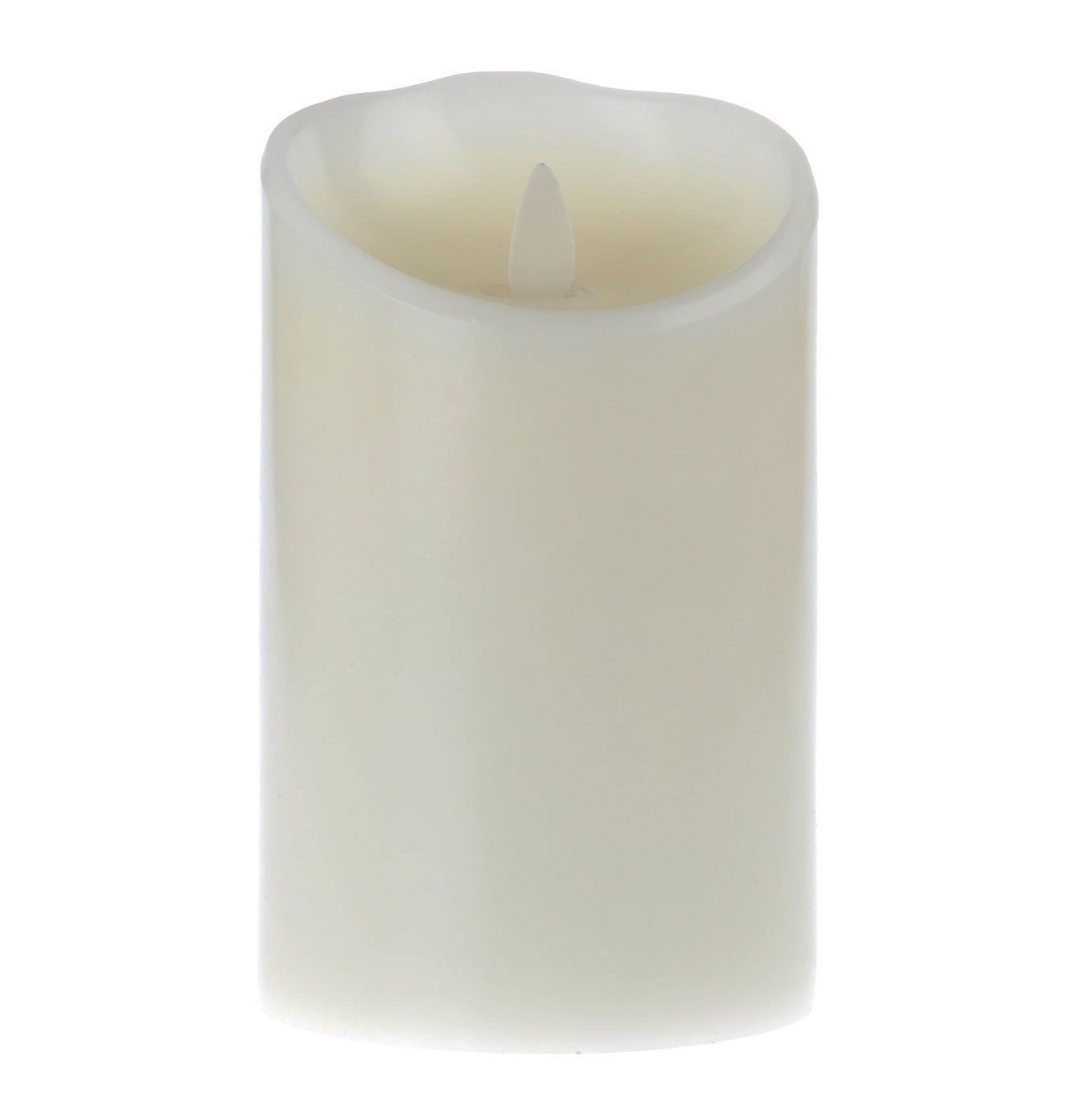 Flameless Candle with Remote & Timer Set of 3pcs,3.5-Inch by 5/7/9-Inch Pillar Candle with Moving Wick,Ivory