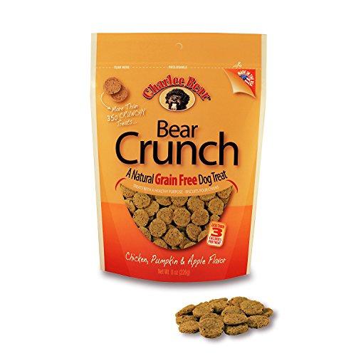 Charlee Bear Grain-Free Bear Crunch Chicken, Pumpkin & Apple Flavor - Net Wt 8 (Charlee Bear Training Treats)