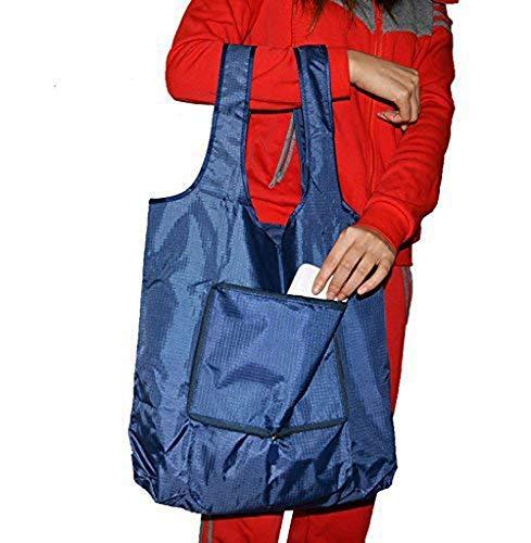高い素材 Shuyue Reusable 2パックSupersize Reusable Grocery Shopping bag large Shuyue tote bag bag折りたたみトラベルリサイクルバッグリップストップナイロントートバッグ折りたたみ式統合型ポーチ レッド B071QYSMBN ディープブルー ディープブルー, ホットとクールのお店 さきっちょ:3b193469 --- lazypandafilms.com