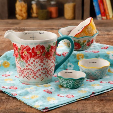 The Pioneer Woman Vintage Floral Measuring Bowl , 5-Piece Set (1)