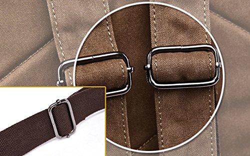Kenox Vintage High School Canvas Backpack School Bag Travel Bag Laptop Bag