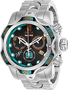 Invicta Men's 'JT' Quartz Stainless Steel Casual Watch, Color:Silver-Toned (Model: 25303)