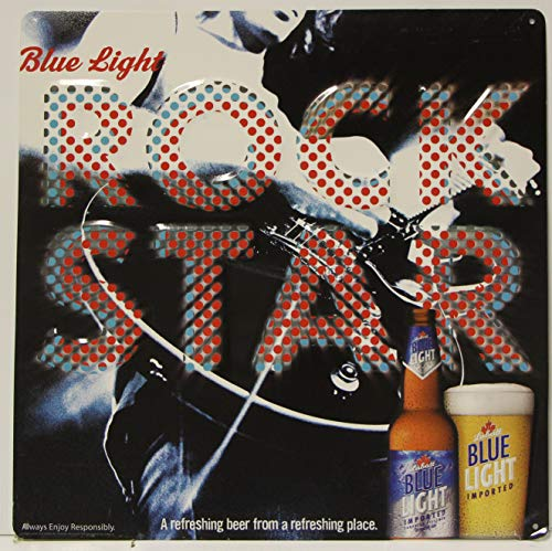 Used, Labatt Blue Light Metal Sign Blue Light Rock Star for sale  Delivered anywhere in USA