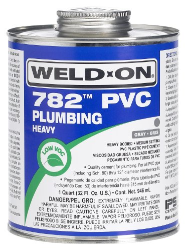 Weldon 14021 Gray 782 Heavy-Bodied Pvc Plumbing Cement Medium-Setting, 1 quart, Gray ()