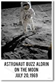 Buzz Aldrin on the Moon July 20,1969 - NEW Famous Astronaut Poster