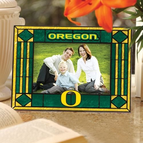 NCAA Oregon Art Glass Horizontal Frame - Oregon Art Glass