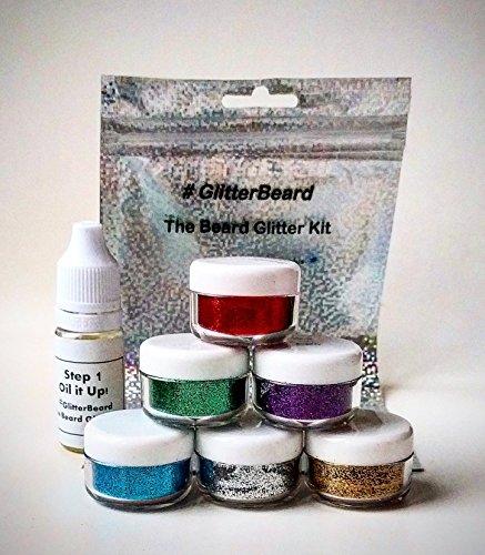GlitterbeardCHOOSE-YOUR-COLOUR-Beard-Glitter-Kit-Beard-Oil-Glitter-Christmas-St-Patricks-Day-Party-Sets-Blue