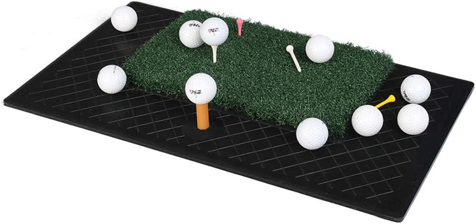 YBJPshop ゴルフ毛布 余分なティー付きのチップ&ドライブ練習用マット ゴルフマット、オフィス エクササイズマット
