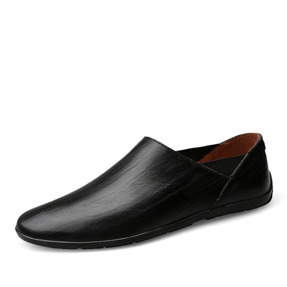Sunny&Baby Slip on Mocasines de los Hombres de Cuero de la PU Mocasines de Barco de conducción de Moda Zapatos Casuales Antideslizante (Color : Negro, tamaño : 41 EU) 41 EU|Negro