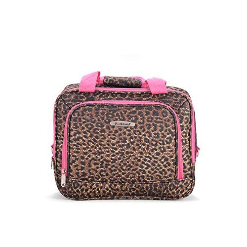 Rockland Luggage 2 Piece Printed Set, Pink Leopard, Medium