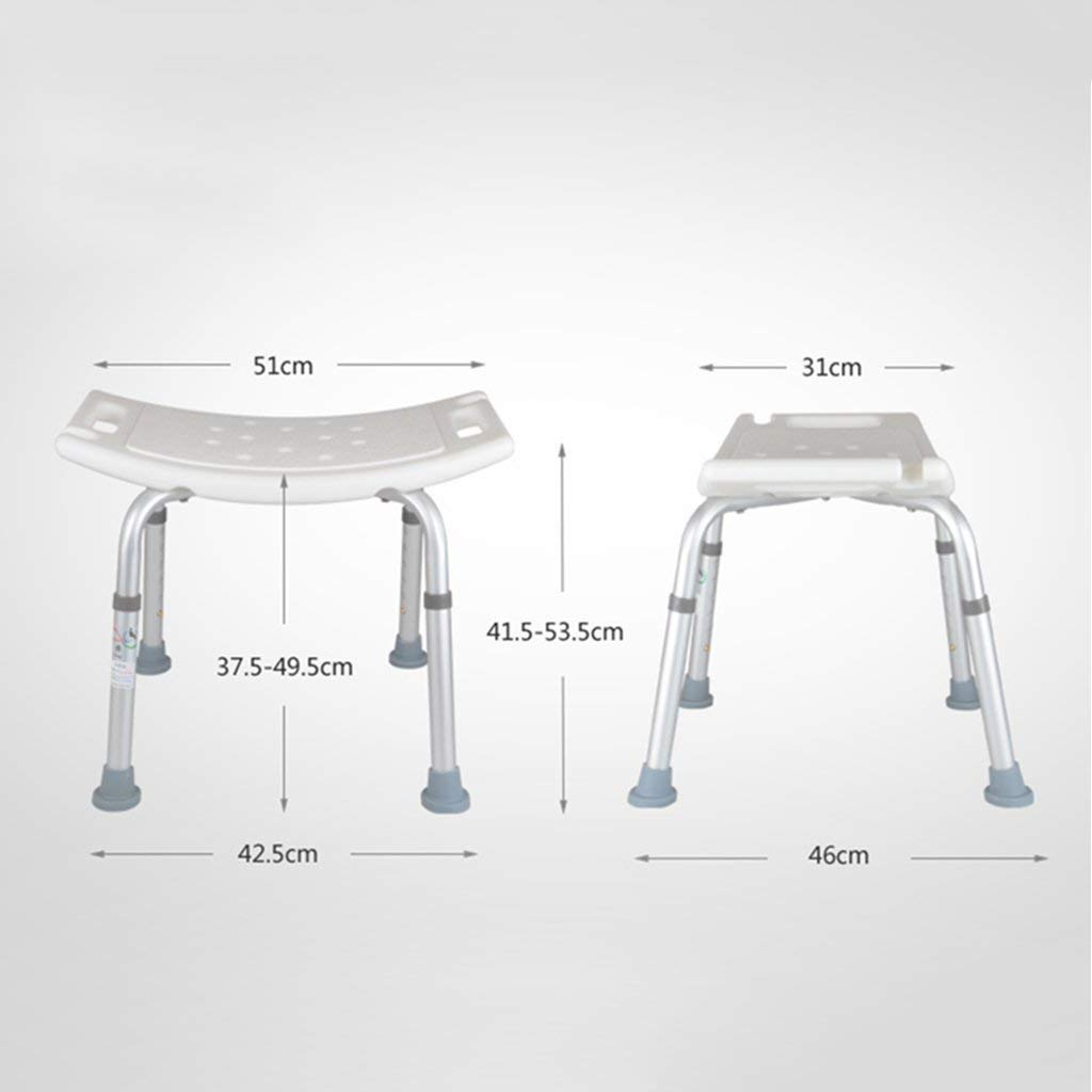 Shower Chair Height Adjustable with Non-Slip Rubber Bathroom Stool Non-Slip for Obesity Health Care Assistance Bathroom Seat by SBCHA (Image #2)
