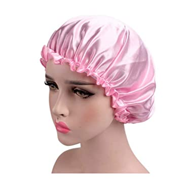 Amazon.com   SUPERLIKE Sleeping Hair Cap Protect Your Beautiful Hair Clean  and Tidy Night Caps for Women One Piece Pink Color   Beauty de6aa305a99