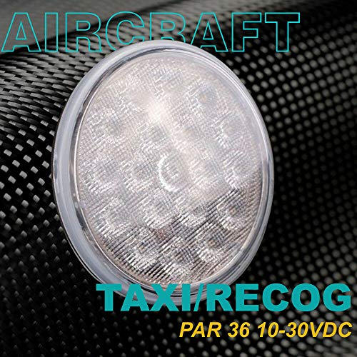 (PAR36 Aviation Grade LED Taxi/Recognition Light | 15 x 45 Degree Flood Beam | 2,100 Lumens |18pc OSRAM LED Chips | 9-32VDC …)