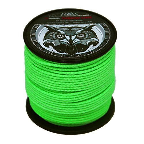 GM CLIMBING 650lb / 1000lb Arborist Throw Line 180feet 100% UHMWPE for Tree Climbing Outdoor General Purpose (1/16in (1.7mm) - Green)