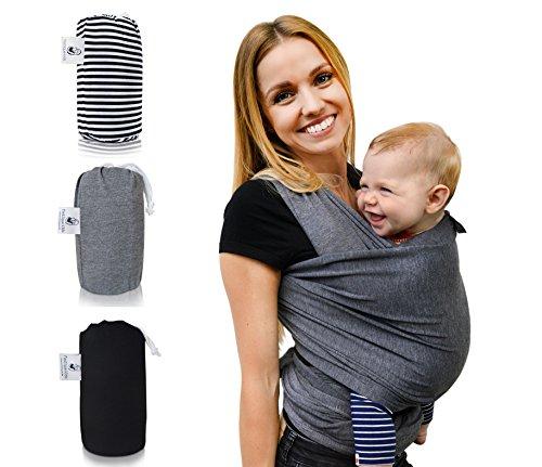 Babytragetuch »Fastique Kids« | Modernes Tragetuch für Früh- & Neugeborene Kleinkinder | Baby Wrap Carrier weich & elastisch | Ideal als Geschenk zur Geburt - Gratisversand