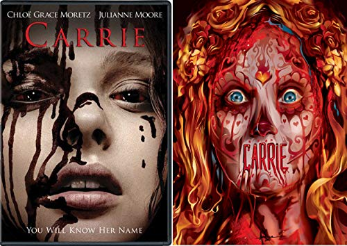 Know Her Name is Carrie Stephen King's Classic 1976 Sissy Spacek Original + Remake 2013 Double Feature Chilling 2 Pack DVD -