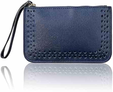 b17b8bb579ff Shopping Leather - Blues - Wristlets - Handbags & Wallets - Women ...