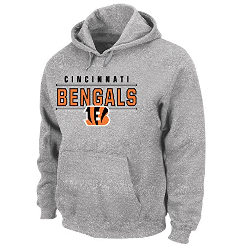 Profile Big & Tall NFL Cincinnati Bengals Unisex Poly Heather Pullover Hoody, Heathergrey, 3XT by Profile Big & Tall