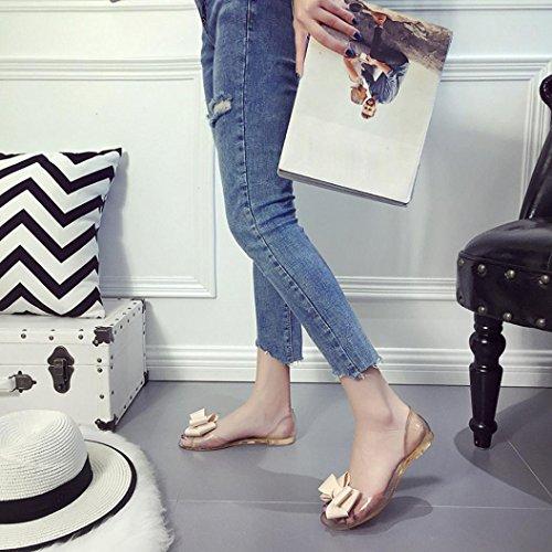 Embelli Papillon D'été Femmes Ouvert Sandales Beige Nœud 7 2 Coupe Taille Large Lolittas Transparent Plates Dames Chaussures Bout À Pantoufle RCqOgwEO