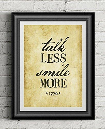 (HAMILTON 'Talk Less Smile More' | 11x14 Poster Print | Inspired By Broadway Musical Hamilton | Lin-Manuel Miranda)