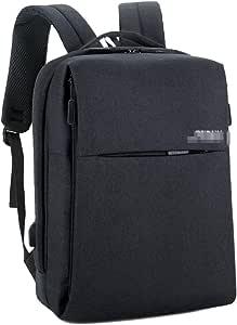 YSDHE Backpack 15.6-inch Laptop Bag Business Travel Packet USB Charging Port Package (Color : Black)