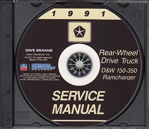 1991 Dodge Ramcharger and Pickup D&W 150-350 Repair Shop Manual CD