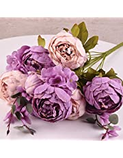 Artificial Peony Silk Flowers Bouquet Glorious Moral for Home Office Parties and Wedding
