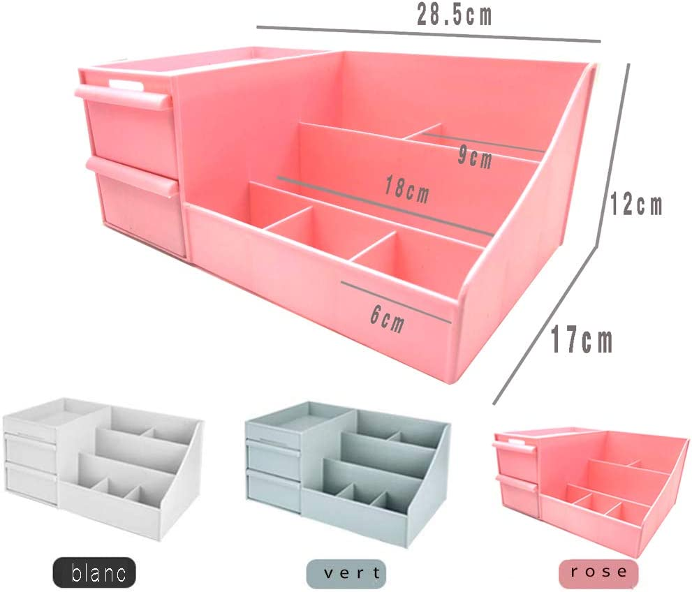 Pink Make up Organizer Make-up Aufbewahrung Schublade Make-up Pinsel Schmuck Aufbewahrungsbox f/ür Hautpflegeprodukte und matten Lippenstift