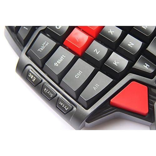 XFUNY Wired Gaming Keyboard 46-Key Professional Single