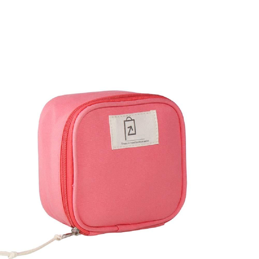HhGold Sac cosmétique Petit Sac de Rangement Portable Mini Voyage Femme (coloré : Rose)