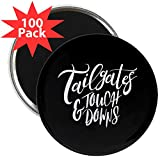 CafePress - Tailgates And Touchdowns - 2.25'' Magnet (100 pack)