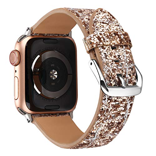 Doweiss Compatible Apple Watch Bands Glitter 38mm 40mm 42mm 44mm, Sparkle iWatch Replacement Wristband Compatible Apple Watch Series 4/3/2/1 -
