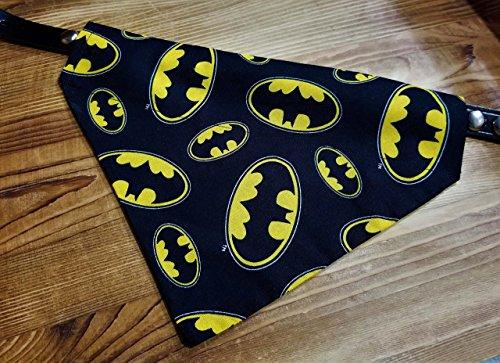 Batman Logo Bat Signal DC Comic Print Over the Collar Dog Bandana No-Tie by Barking Bad Bakery and Boutique