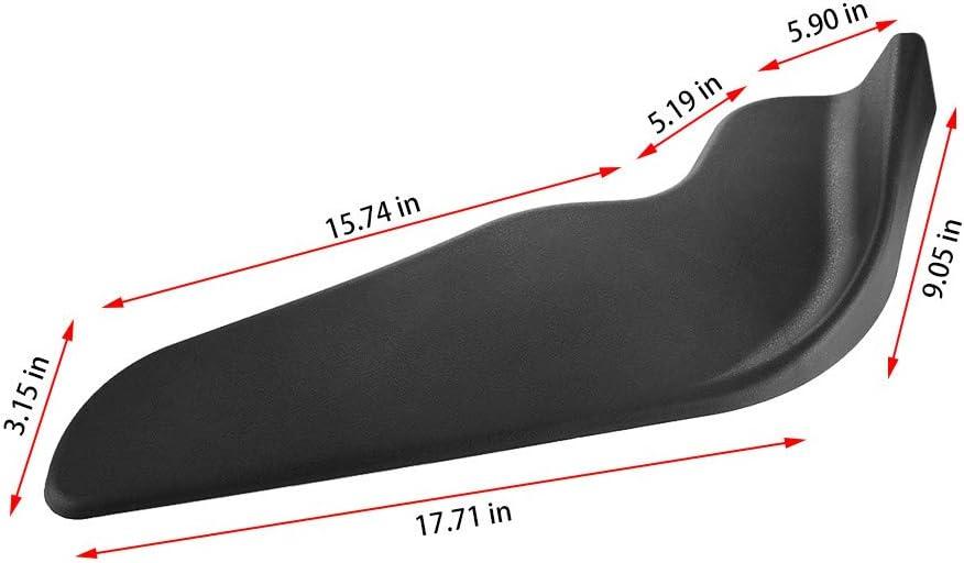 Pollyhb Bumper Splitters 2 Pcs Auto Car Bumper Spoiler ABS Front Shovel Decorative Scratch Resistant Wing